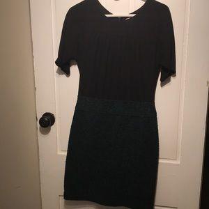 Green & Black Loft Dress